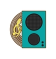 cartoon speaker baffle audio music vector image