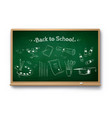 chalk drawn set art education objects vector image