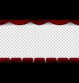 cinema chairs film movie theater vector image