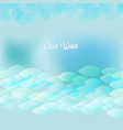 clear water vector image