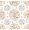 colorful aztec mandala pattern on a white tile vector image