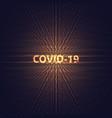 corona virus 3d particle text covid-19 virus vector image vector image