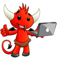 Devil Character Laptop vector image vector image