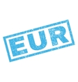 Eur Rubber Stamp vector image vector image