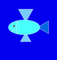 fish on the blue background vector image vector image