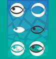fishs logo vector image