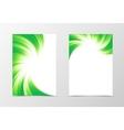 Flyer template swirl design vector image vector image