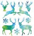 Geometric Christmas deer set vector image vector image