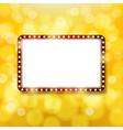 Golden retro frame vector image vector image