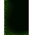 Green Pixels Background vector image