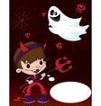Halloween devil boy vector image vector image