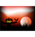 Halloween scarecrow background vector image vector image