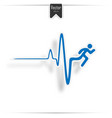 heartbeat make running man symbol stock vector image vector image