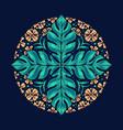 hello summer native flower pretty mandala vector image vector image