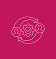 hr management icon line vector image vector image