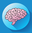 human brain icon symbol of intellect study vector image vector image