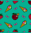 kids cartoon seamless pattern skarpbuking vector image