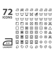 Laundry and washing icon set isolated on white vector image