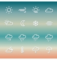 Lines weather Icon set on gradient vector image