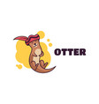 logo otter simple mascot style vector image