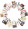 makeup cosmetics round concept vector image