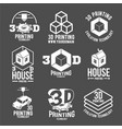 modern printer badges logotypes and icons vector image vector image