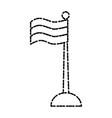 national flag symbol vector image vector image