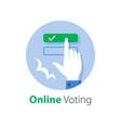 online voting complete e-form push button vector image