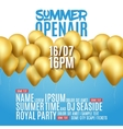 Open Air Festival Party Poster design Flyer or vector image vector image