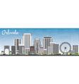 Orlando Skyline with Gray Buildings vector image vector image