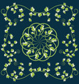 pattern with green leaves vector image vector image