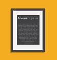 realistic photo frame isolated on yellow vector image vector image