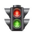 realistic traffic lights for pedestrians vector image vector image