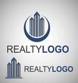 realty logo 1 vector image