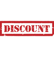 Red stamp discount vector image vector image