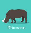 rhinoceros cartoon on sky blue background vector image vector image