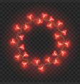 round frame light bulbs festive garland vector image