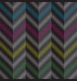 seamless dark gray striped pattern with tolorful vector image vector image