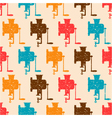 seamless pattern with color retro grinders vector image vector image