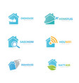 set real estate logo combination house and vector image vector image