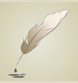 silhouette of pen with a pen of beige hue with vector image