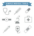 simple outline medical tools package vector image vector image