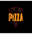 slice of pizza on black background vector image vector image