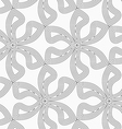 Slim gray six pedal flowers with offset vector image vector image
