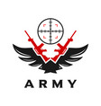 sniper logo vector image vector image