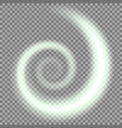 spiral of light green color vector image vector image
