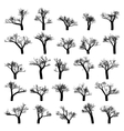 Spooky tree silhouette vector image