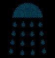 spray stream collage icon of halftone spheres vector image