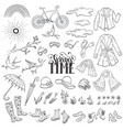 spring time accessories vector image vector image