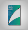 the conceptual cover template for business vector image vector image